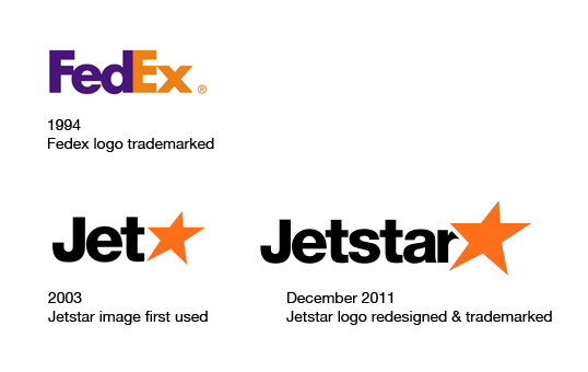 Jetstar and Fedex logo comparison