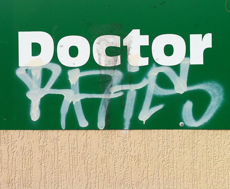 graffiti on signage example