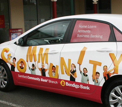 Bendigo Bank vehicle signage design