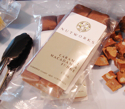 Nutworks confectionary cello packaging design