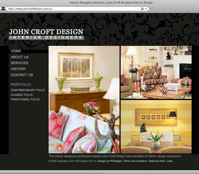 John Croft Design website