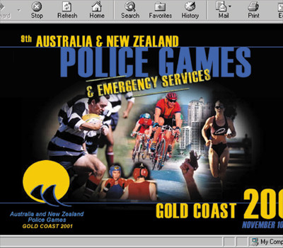 Qld Police Games website design