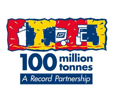Qrail coal 100 million tonnes logo design